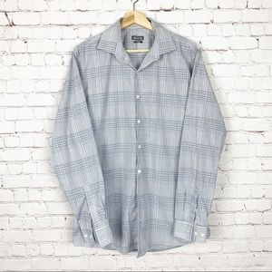 Kenneth Cole Reaction Shirts - Kenneth Cole Reaction Blue/White Dress Shirt